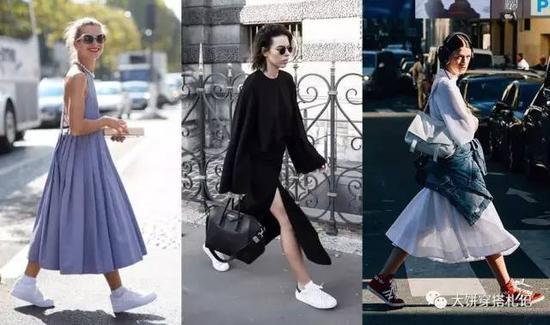 而匡威这类板鞋呢,纤瘦设计对裙子不挑,但是要穿洋气了——挑人。饼自己并不甚喜爱,符合这种冷淡气质的姑娘可以尝试。