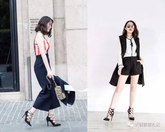 除了特色款,潮流款也是不错选择。从去年开始流行的矮粗跟,姑娘们可以趁着机会备上两双简约又有调调的舒适设计鞋款。