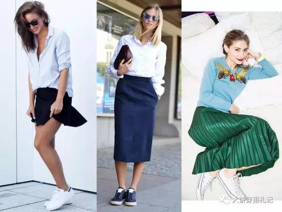 而从搭配上看,服装的繁简也与鞋子的选择有关: