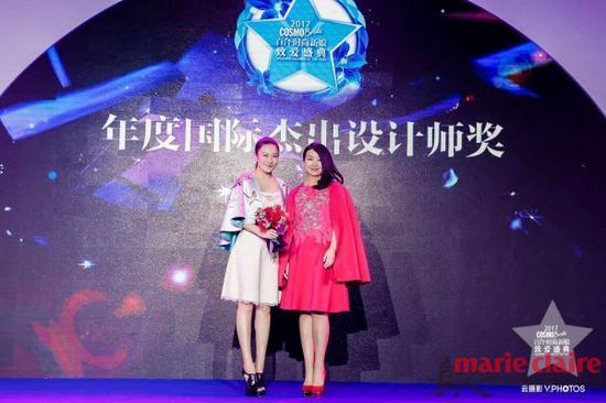 年度国际杰出设计师奖得奖者LANYU兰玉女士 和时尚致爱创始人冷雨璇女士