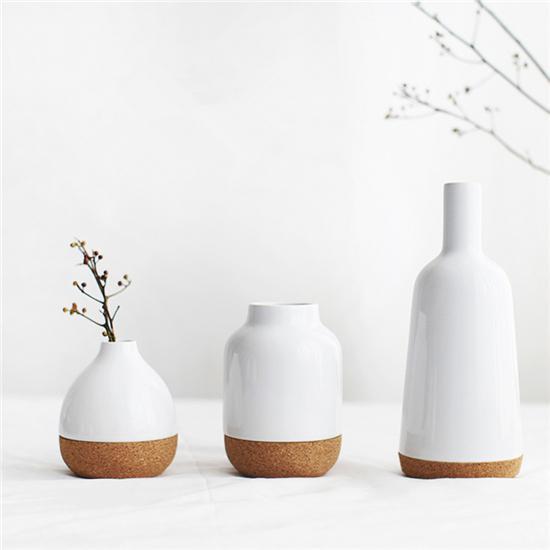 肆月 软木陶瓷拼接花瓶