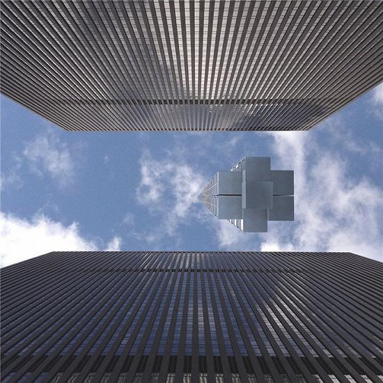 日行迹塔可以在迪拜建造,然后漂移到纽约城,像天外游客一般停留在城市的上空。