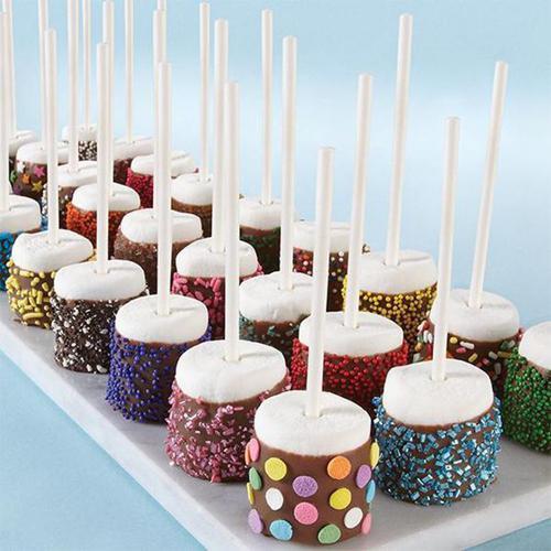 直接烤或蘸巧克力包裹糖果也很美味。