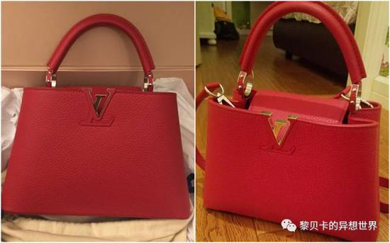 张靖昀:LV,意大利买的拼色款,花了25000元,粉色内里一下就让包包活泼起来啦,而且真心很百搭!