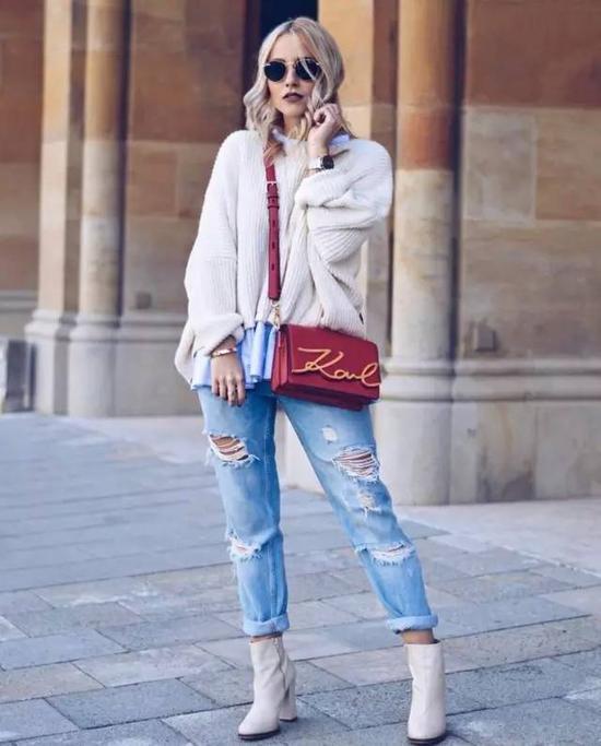 跟男友约会的时候穿既不会太暴漏又能体现时髦的好品位。