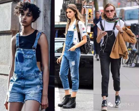 而连体裤则风格则比较多变,可以是中性帅气的,也可以是清新甜美的,还可以是性感女人味的。