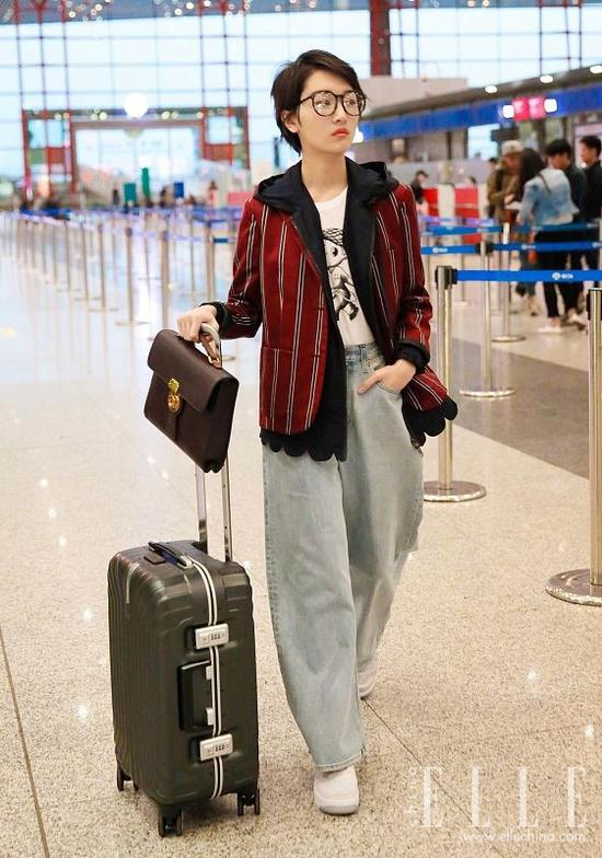 高圆圆刘诗诗在穿同一条牛仔裤,你猜长啥样