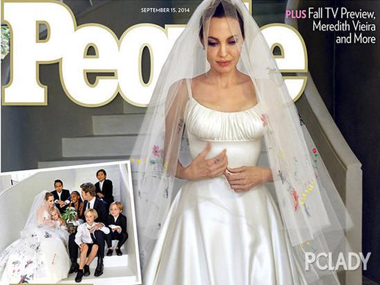 安吉丽娜朱莉婚纱照
