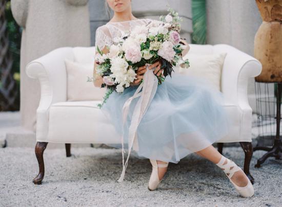 婚纱以芭蕾舞裙为灵感
