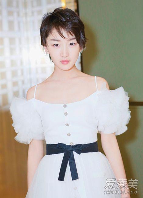 喜欢你路演白色吊带裙