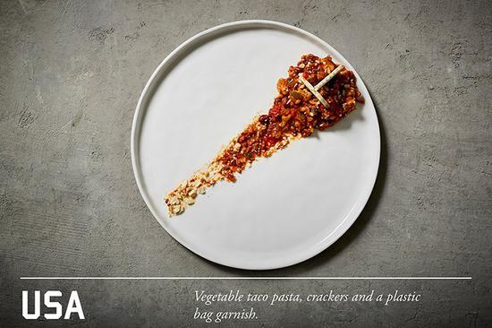 蔬菜意面小食,脆片和素食配菜