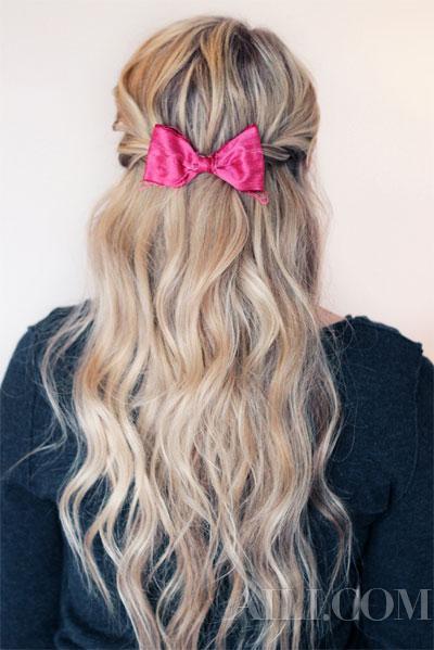 蝴蝶结发夹轻松打造8款发型 你还不快快学起来
