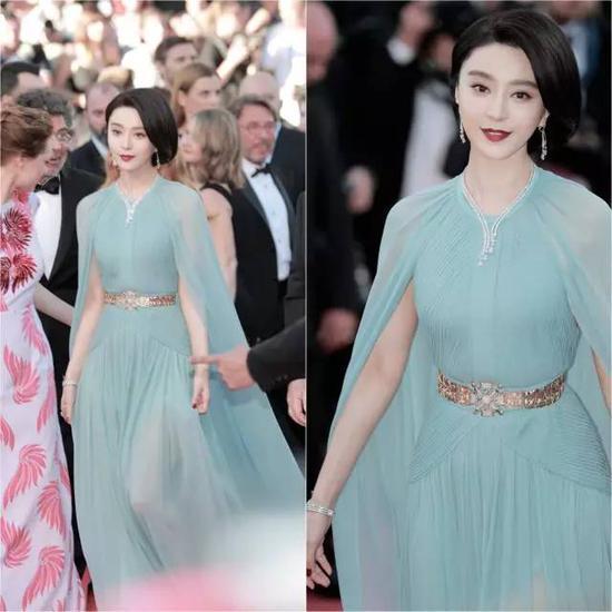 作为本届戛纳最受关注的华语女星,范冰冰早在红毯前已大换四套造型抢尽版面。