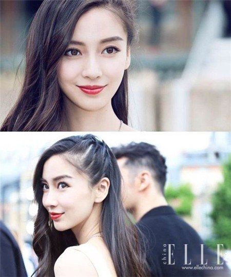 化妆技巧 刘诗诗偏分这么美 全靠放一半夹一半的套路 美容护肤 图20