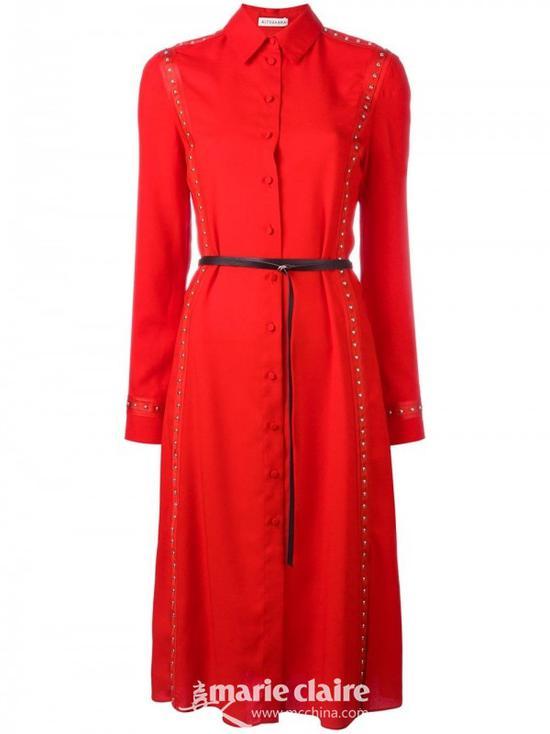 ALTUZARRA铆钉腰带连衣裙¥9,970