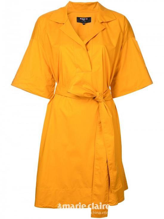 PAULE KA短款裹身连衣裙¥4,178