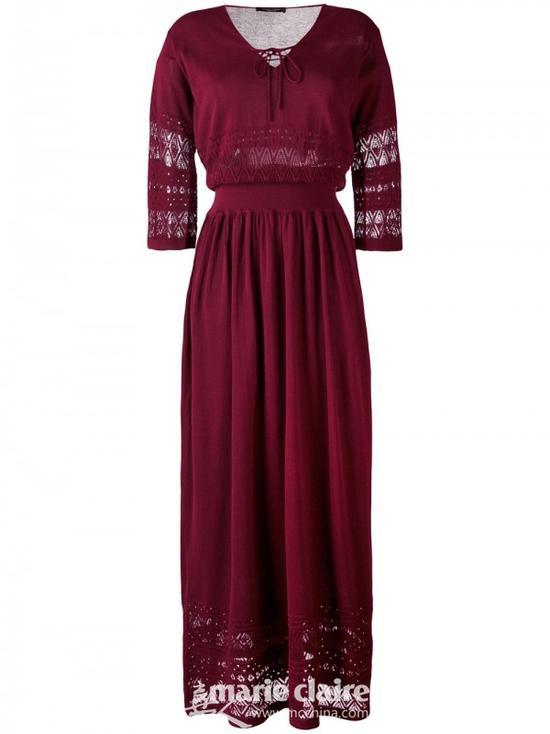 ROBERTO COLLINA长款绳结连衣裙¥3,141