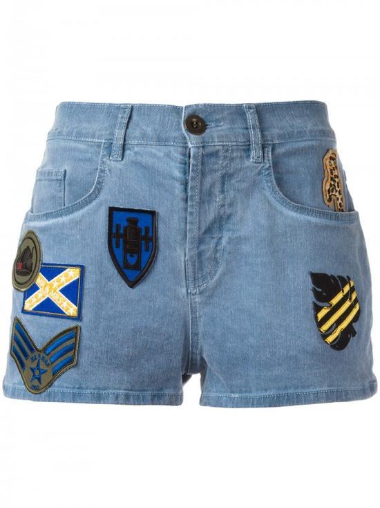 MR & MRS ITALY 补丁牛仔短裤 ¥2,506