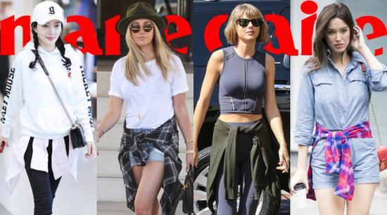 衣服系腰间 让你的style free的毫不费力