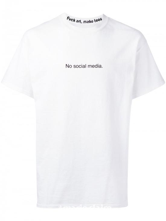 F.A.M.T. No Social Media T恤¥468