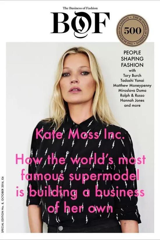 """BOF 对 Kate Moss""""创业""""的报道"""
