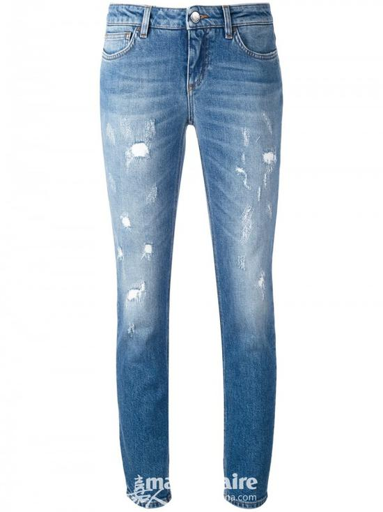 DOLCE & GABBANA 仿旧紧身牛仔裤¥5,230