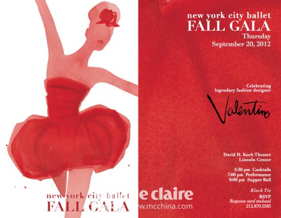纽约芭蕾舞团2012秋季汇演海报
