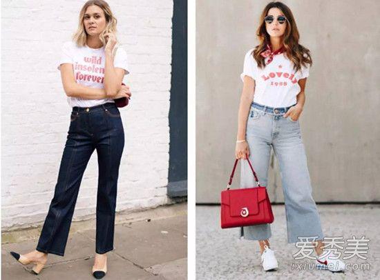 像时下最火爆的slogan标语T恤来搭配阔腿裤就非常有款有型,还能彰显出你的时髦态度,非常推荐大家尝试这组搭配套路。