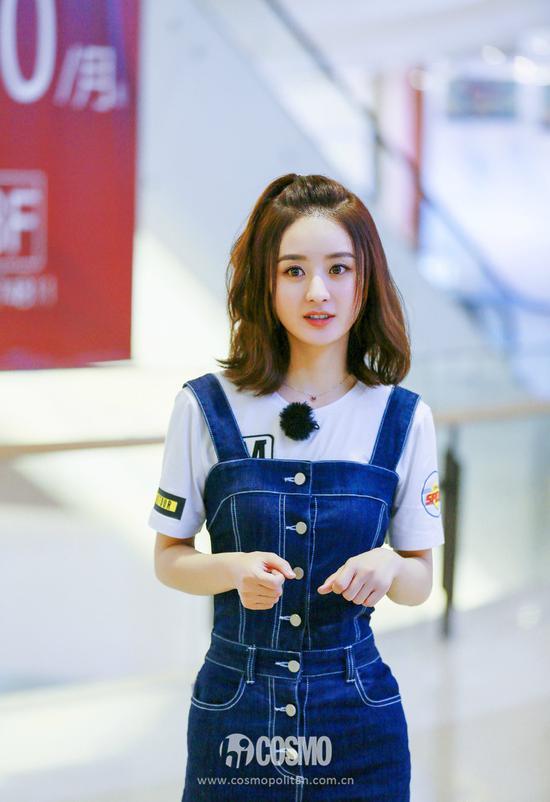 """刘亦菲穿背带裙秒回18岁 这款""""直男斩""""考虑入手"""