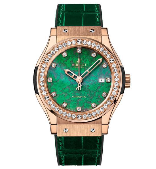 HUBLOT宇舶表经典融合灵动翠绿腕表