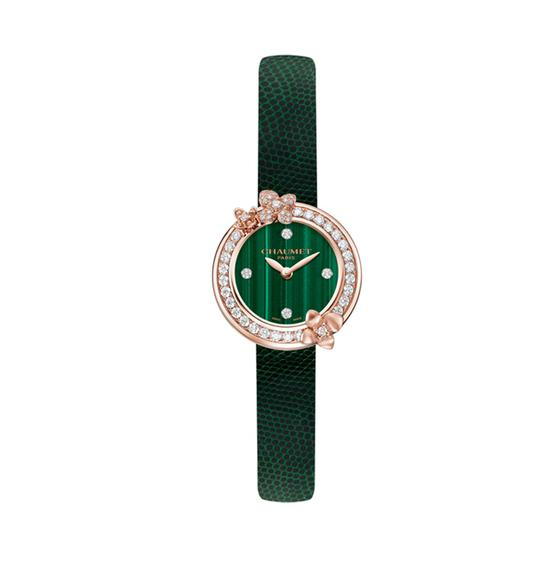 CHAUMET Hortensia Eden 绣球花伊甸园孔雀石腕表