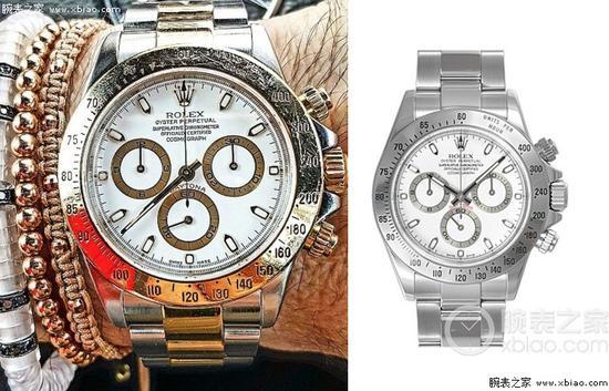劳力士宇宙计型迪通拿系列116520-78590 白盘腕表(白钢迪)