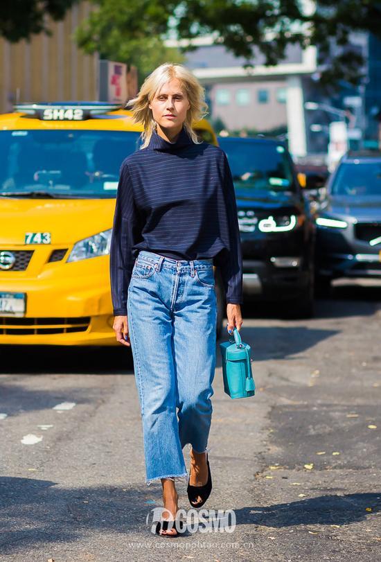 时尚军团的倪妮还是很带货!比如这条牛仔裤……