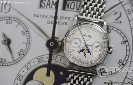达翡丽1518万年历计时腕表(钢款)-拍卖场上的天价手表图片