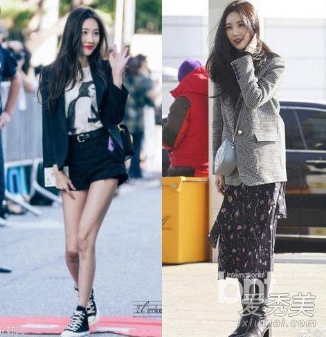 韩国欧尼的西装搭配,基本都是很适合日常的,西装外套加半身裙的设计很时髦,可休闲可干练,关键是穿平底鞋一样也显腿长呢。