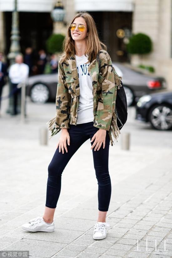 廓形夹克+紧身裤 才是保暖显瘦最佳套路!