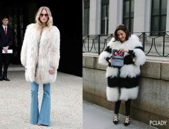 相反,轻薄的皮草外套褪去奢华感回归日常feel,清爽还带点毛绒绒的可爱感。