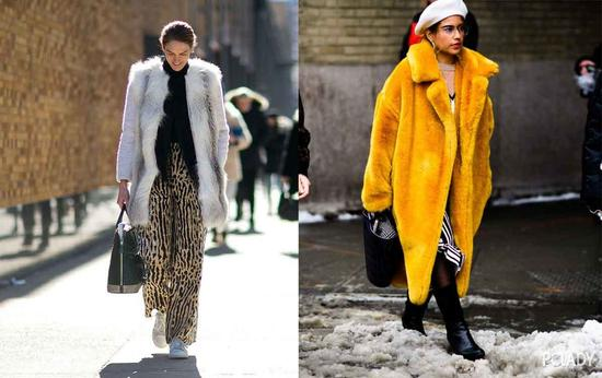 如果你不是参加什么盛大活动,轻盈、日常的皮草大衣才是最百搭最能穿出街的款式。