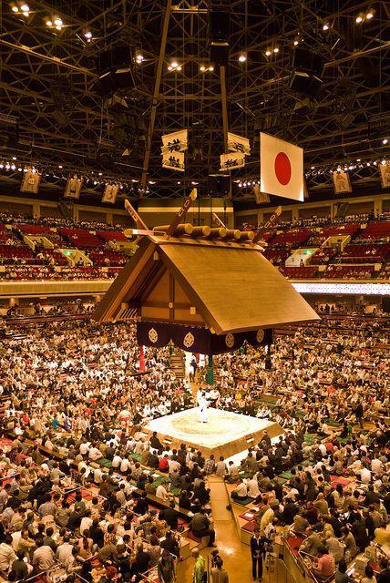 相扑比赛现场 图片来源自flickr.com