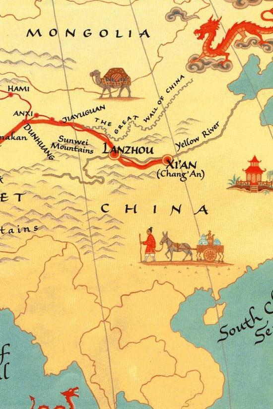 丝绸之路 图片来源自HuffPost