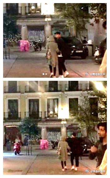 双宋西班牙街头 图片来源自微博@青春娱乐