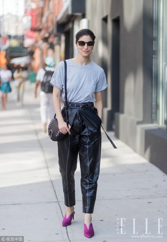 """最显腿长的裤子,名叫""""上宽下窄高腰裤"""