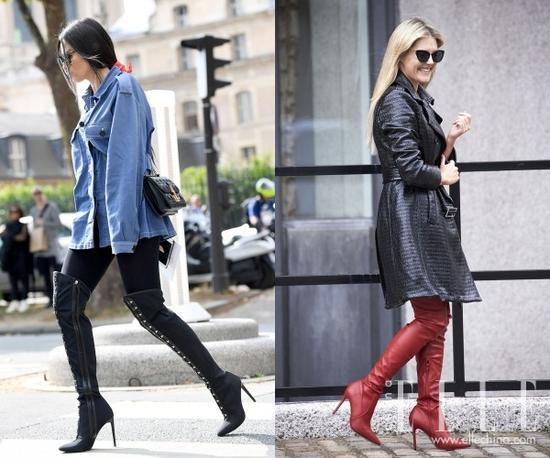 """同样的鞋跟高度若是换成粗跟,""""俗气""""和""""妖艳""""的感觉就弱化很多。"""