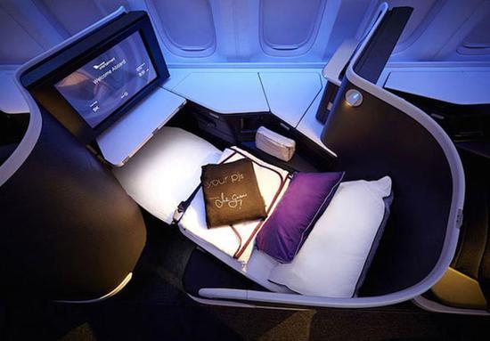 维珍澳洲航空的商务舱看起来更像是其它航空公司的头等舱。