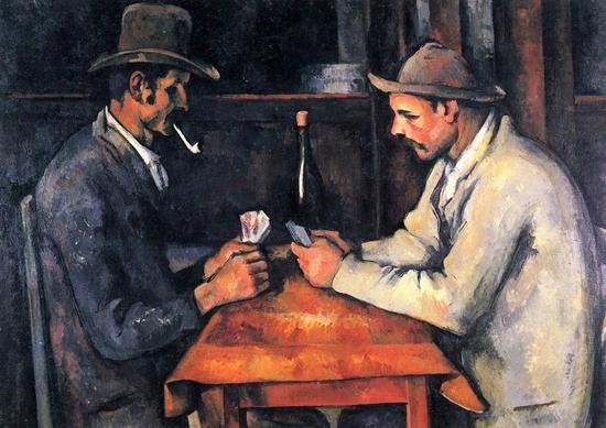 年轻时期作品《打牌人
