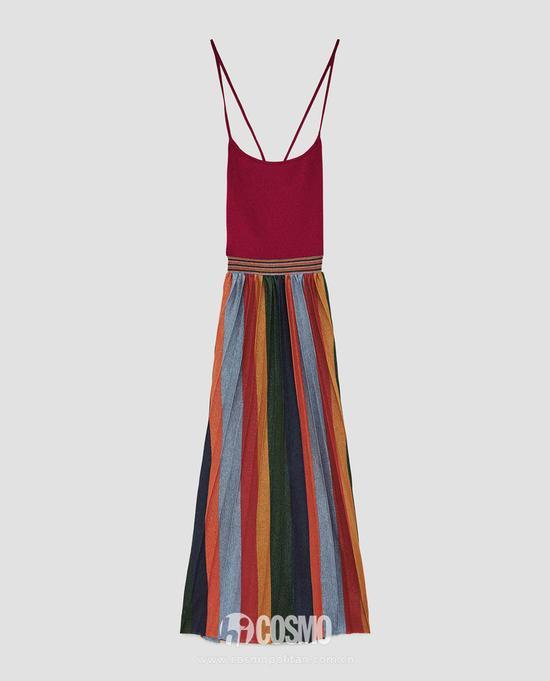 刘雯的呢子裙何穗的百褶裙 超模的最爱你也能穿