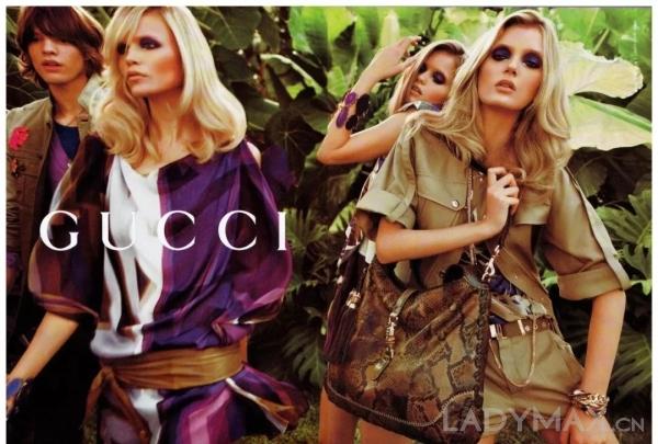 图为Gucci 2009春夏广告大片