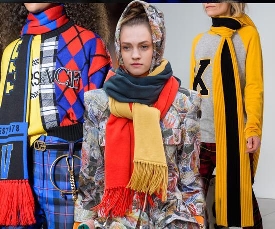 2018 Fall/Winter Fashion Week从左至右Versace、Chanel、Michael Kors