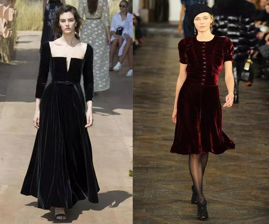 左:Dior 2018 右:Ralph Lauren RTW Fall 2013