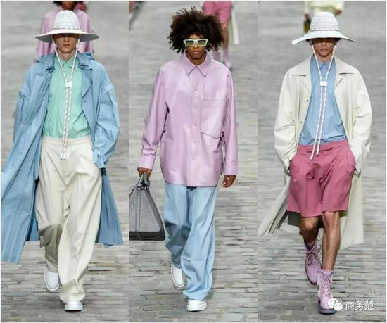 这次Pitti Uomo,型男们也纷纷把水彩色穿上了身~